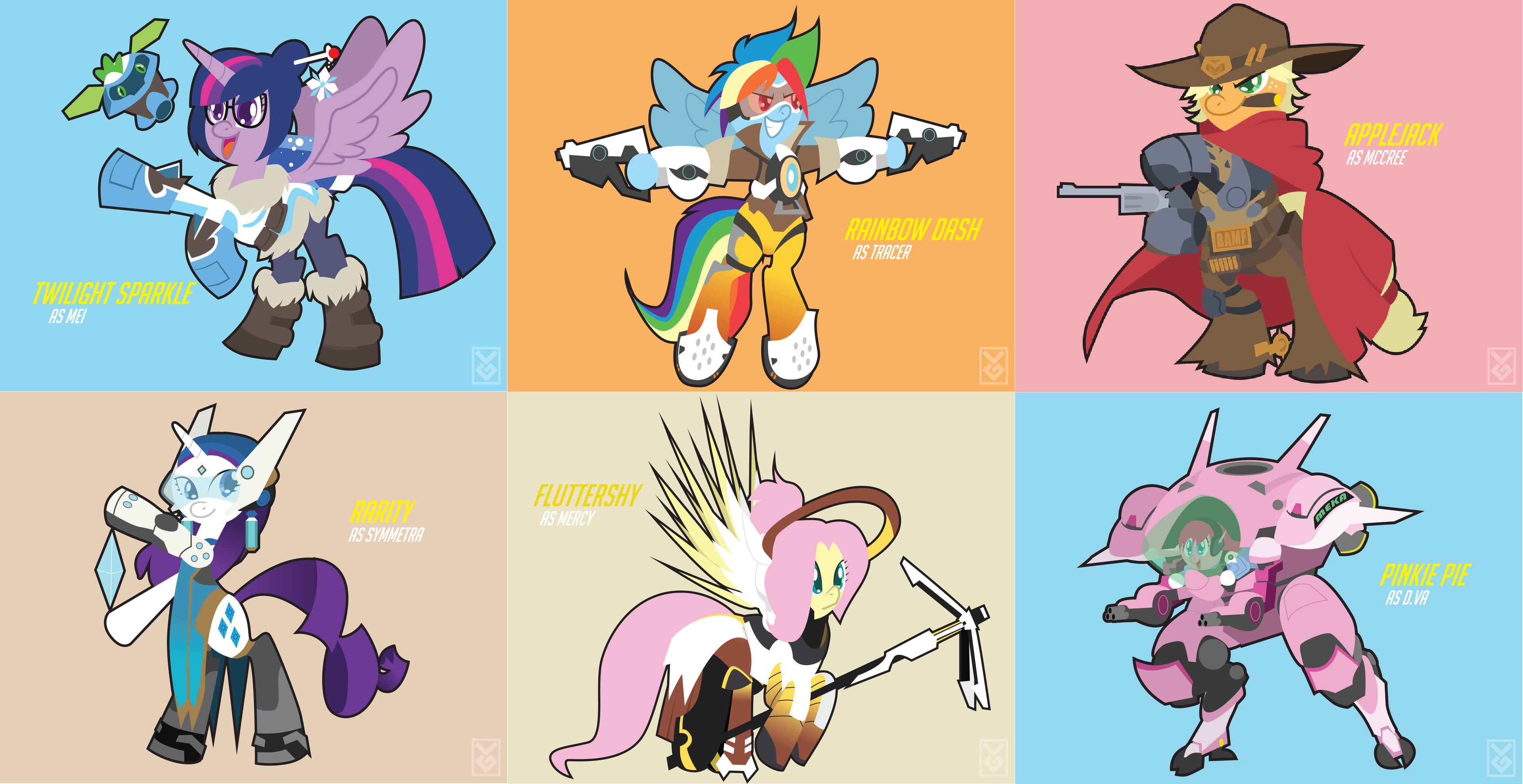 Image result for mane 6 as overwatch characters