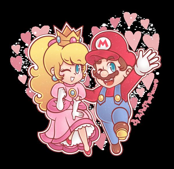Cute Art Of Mario And Peach Super Mario Know Your Meme