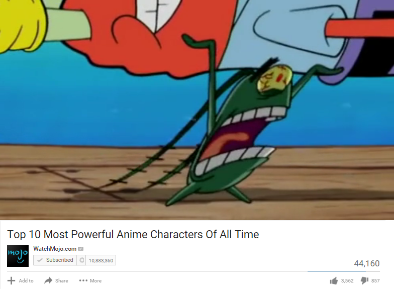 Top 10 Most Powerful Anime Characters of All Time WatchMojocom ...