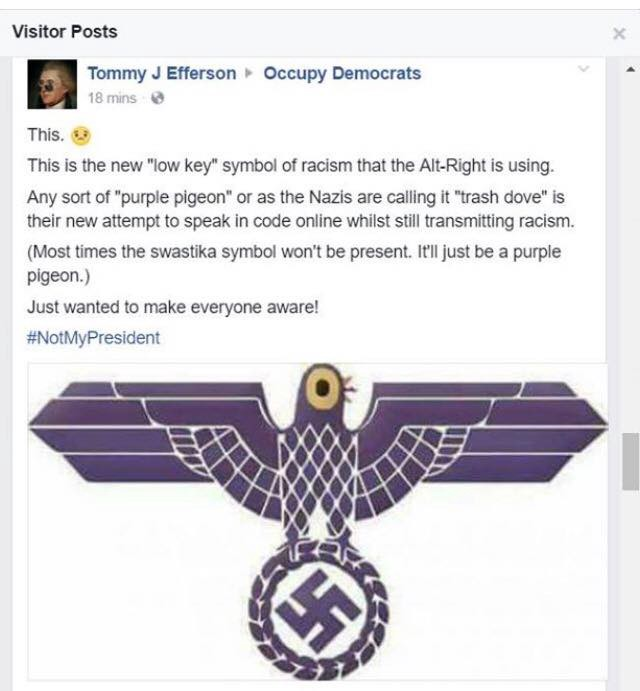 Liberal Sjws Think That Trash Dove Is A Nazi Symbol Thedonald