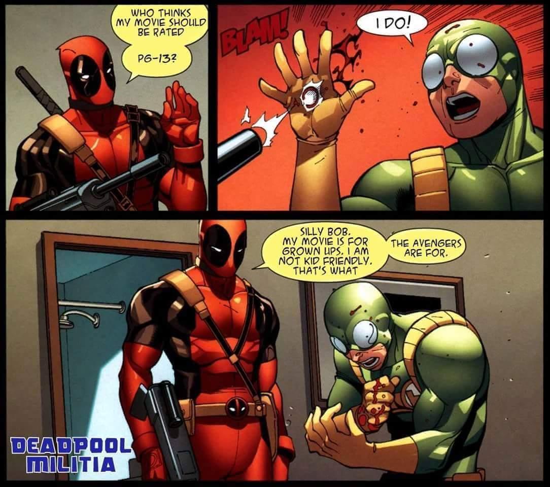 Regarding a PG-13 Petition | Deadpool / Wade Wilson | Know ...